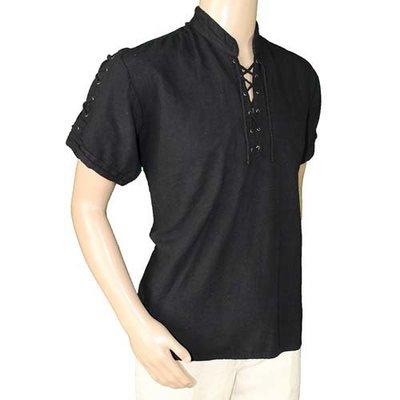 Middeleeuwen Hemd met korte mouwen Zwart