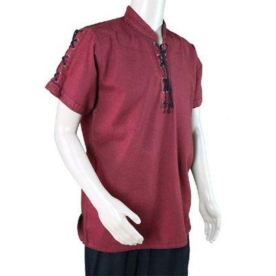 Middeleeuwen Hemd met korte mouwen Bordeaux