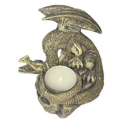 Poly Dragon Candle 2