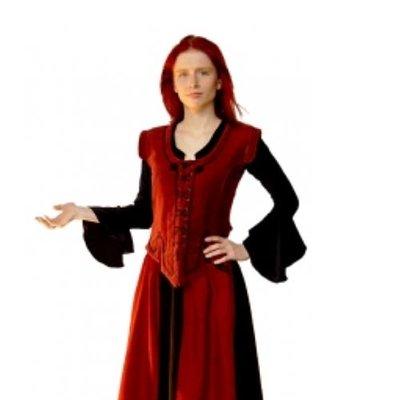 Velvet Damesvestje, Rood