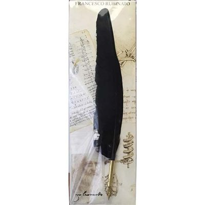 Zwarte schrijfveer met inkt in Blister