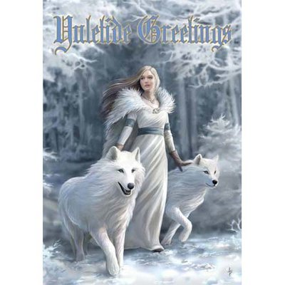 Anne Stokes Kerstkaart Winter Guardians