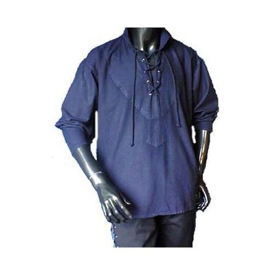 Middeleeuwen Hemd Blauw