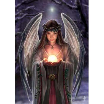 Anne Stokes Kerstkaart Yule Angel