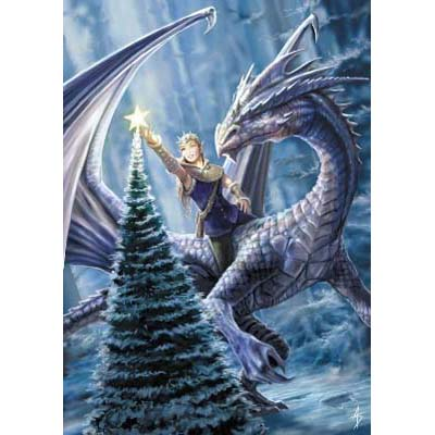 Anne Stokes Kerstkaart Winter Fantasy