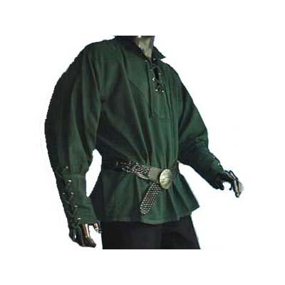 Hemd met gesnoerde mouwen Groen