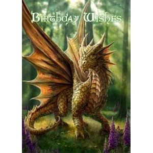 Anne Stokes Kaart Friendly Dragon