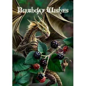 Anne Stokes Kaart Blackberry Dragon