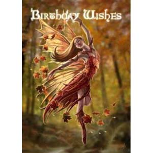 Anne Stokes Kaart Autumn Fairy