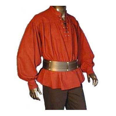 Hemd met pofmouwen Bordeaux Rood
