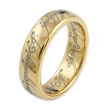 One Ring Verguld Wolfram