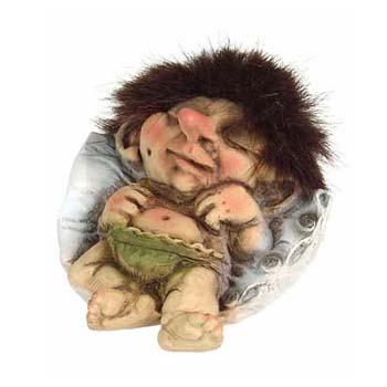Troll Baby op kussen
