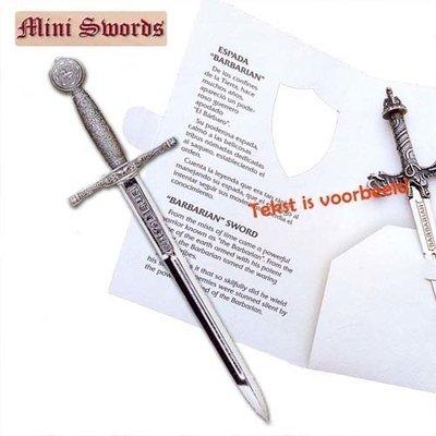 Minisword, Excalibur zilverkleurig