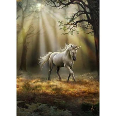 Anne Stokes Kaart Glimpse of a Unicorn