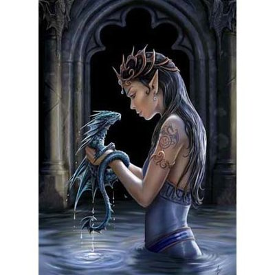 Anne Stokes Kaart Water Dragon