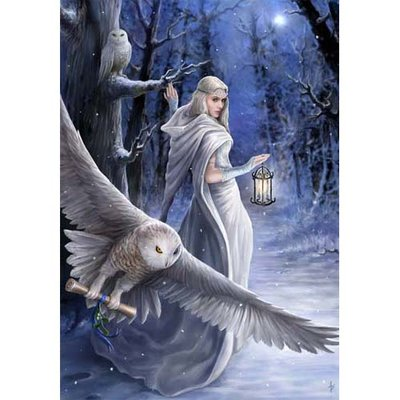 Anne Stokes Kerstkaart Midnight Messenger