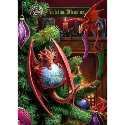 Anne Stokes Kerstkaart Little Helpers