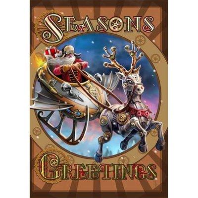 Anne Stokes Kerstkaart Steampunk Santa
