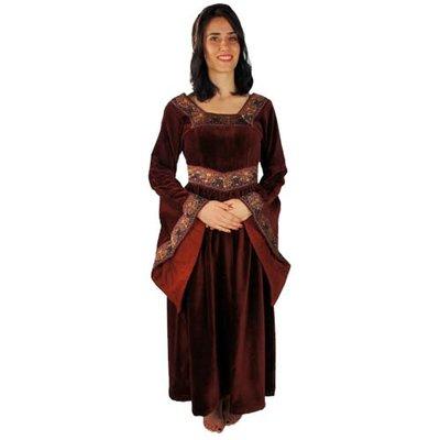 Jurk Anna Boleyn Bordeaux