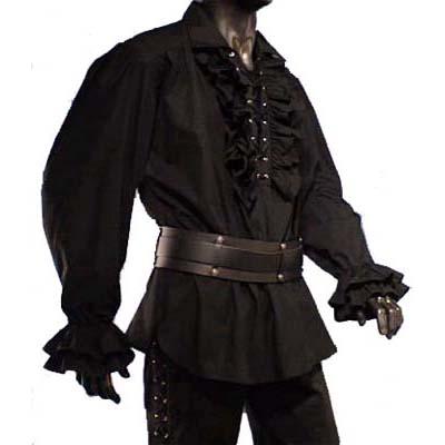 Piraten Hemd, Zwart