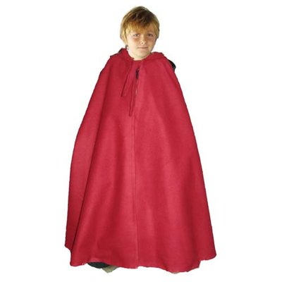 Wollen Kindercape, Rood