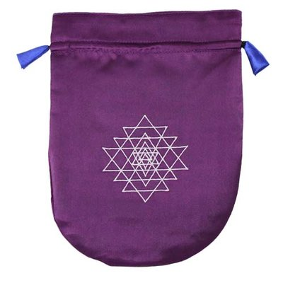 Tarot Bag, Purple Shri Yantra