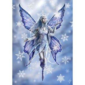 Anne Stokes kerstkaart Snowflake Fairy